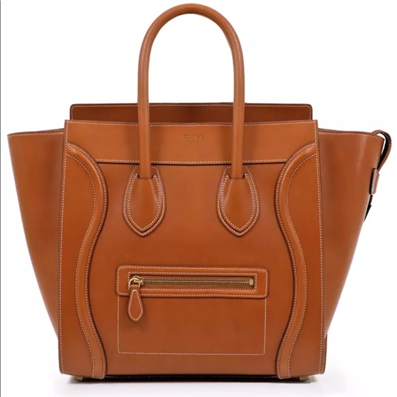 Celine Mini Luggage Phantom Top ZIp tote Bag Tan 3894e220dcf1e